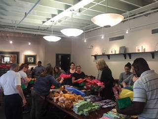 operation christmas child office packing